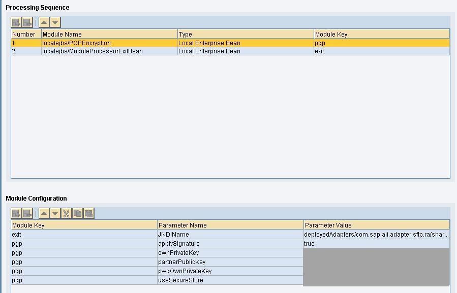 PGP Encryption Module Configuration