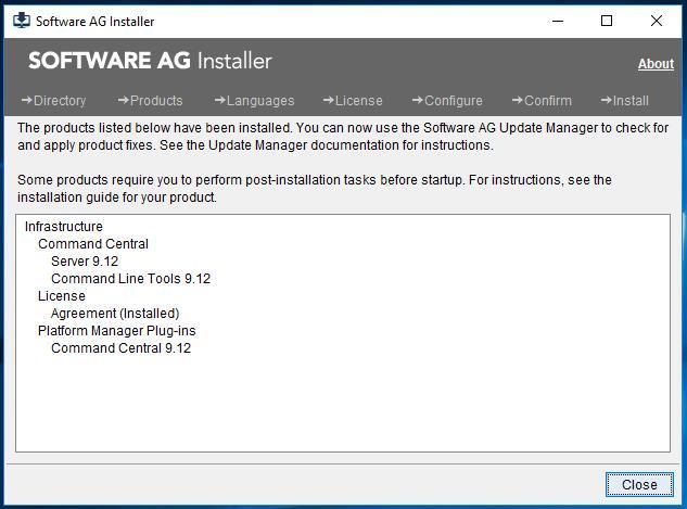 Software AG Installer