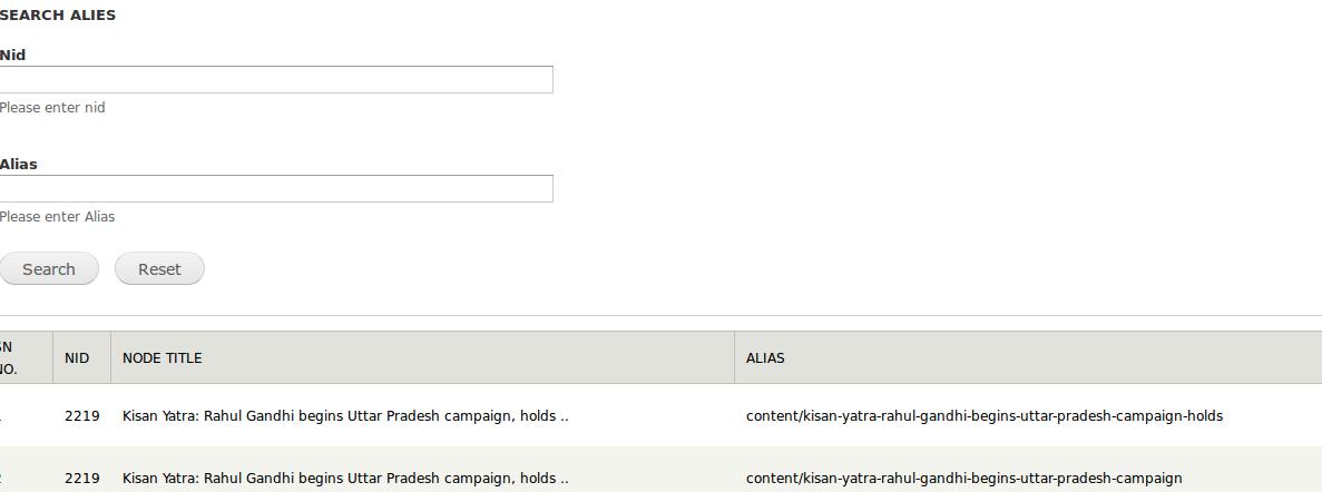 Screenshot of new drupal module